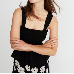 Texture and Thread Madewell Shirred Peplum Top